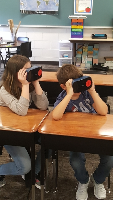 Students using VR.