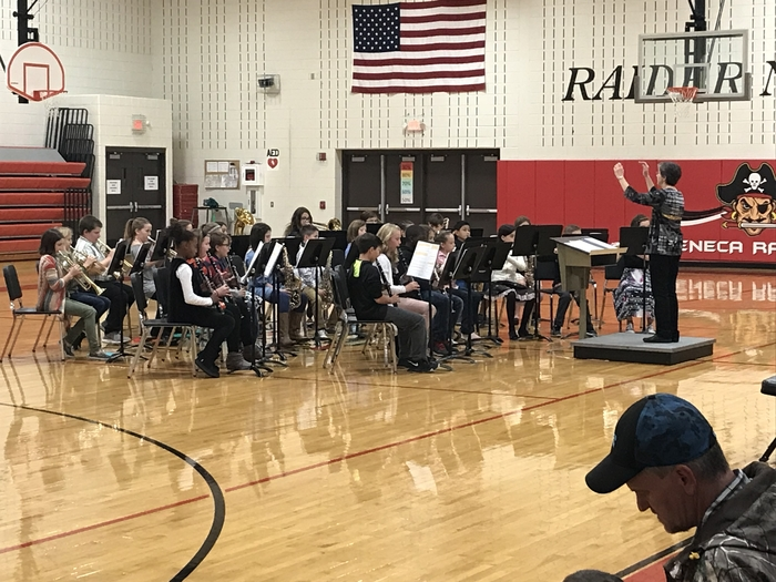 This is an image of the beginning band concert.