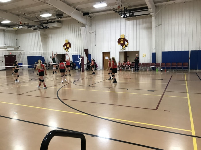 This is an image of 6th grade volleyball.