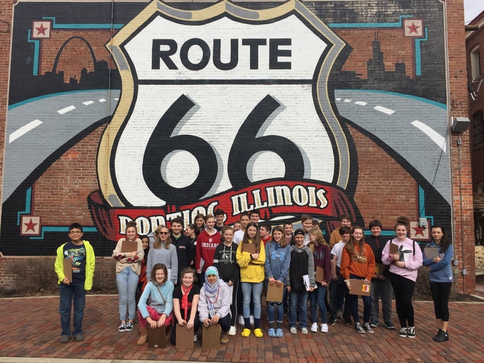 Route 66 mural.