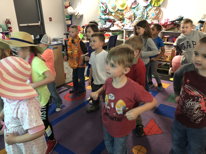 Preschool enjoying some Island dancing!
