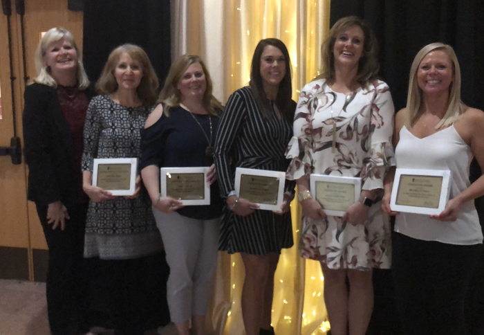 Mrs. Novotney, Mrs. Berg, Mrs. Ellis, Mrs. Yerly, Mrs. Hamilton and Miss Hall