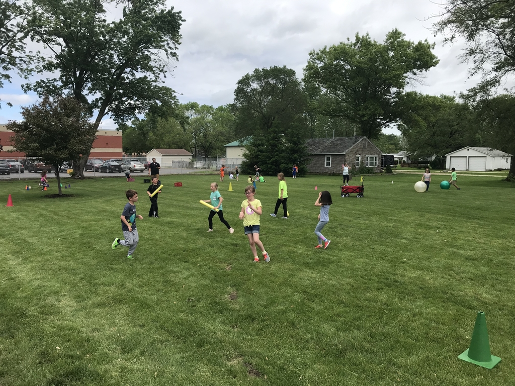 This is an image of outdoor field day activities.