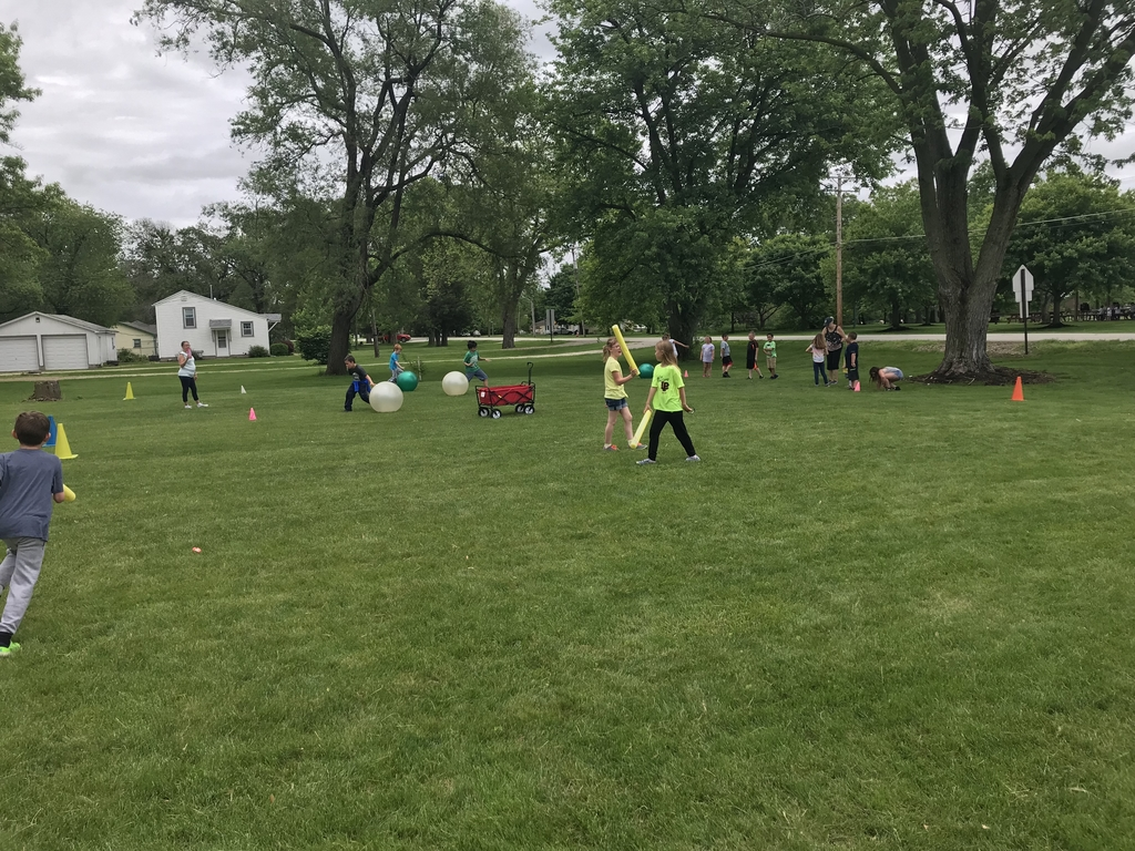 This is an image of field day outdoor activities.