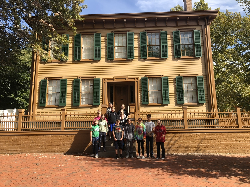 Touring the Lincoln's home.