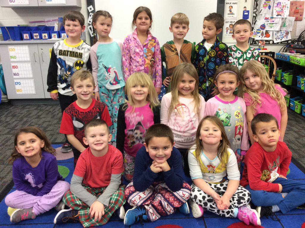 Students wore their pajamas to school!