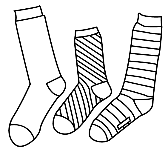 Color your own crazy socks
